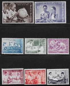 BELGIUM SC# 545-52 FVF/MOG 1960