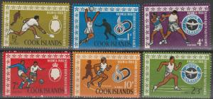 Cook Islands MNH 175-8,C10-11 2nd Pacific Games 1967