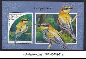 GUINEA - 2018 BEE-EATER BIRDS - MIN. SHEET MNH