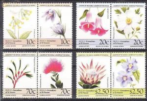1985 St. Vinsent von Grenadien - Bequia 106-113 Flowers 5,00 €
