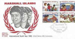 Marshall Islands 78-81 UN International Youth Year 1985