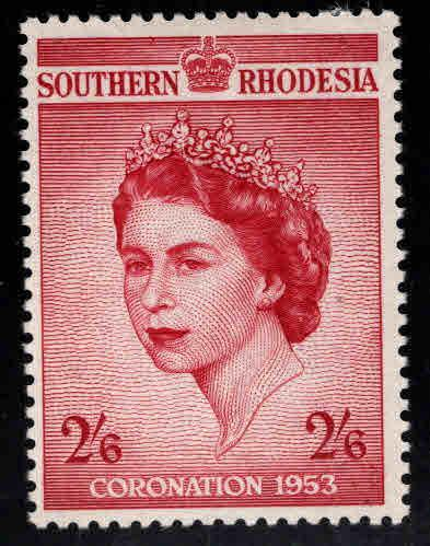 Southern Rhodesia Scott 80 MH* Coronation 1953 QE2 stamp