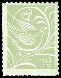 PCBstamps    US #3999 63c Dove facing right, 2006, MNH, (6)
