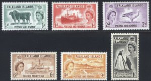 Falkland Is 1955 1/2d-1s Pictorial SG 187-192 Scott 122-127 UMM/MNH Cat£55($42)