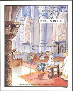St. Vincent Grenadines MNH S/S Disney's Puss In Boots 1992