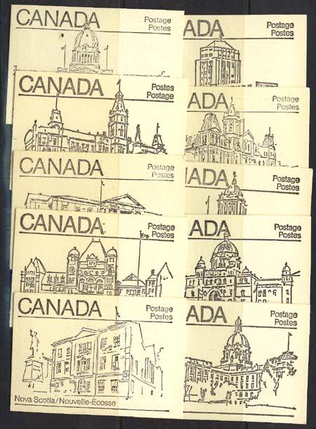 Canada USC #BK82a Complete Set of Ten Diff. Covers - Uncoated Paper