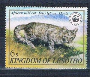 Lesotho 351 MNH African wild cat 1982 (MV0330)+