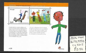 Portugal MNH S/S 3332 Racism As Seen By Children Europa 2006