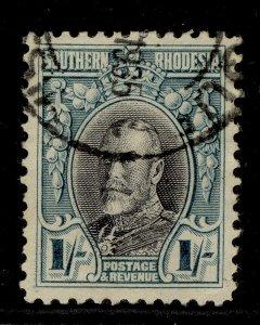 SOUTHERN RHODESIA GV SG23, 1s black & greenish blue, FINE USED.