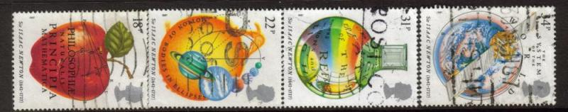 Great Britain Sc 1172-5 1987 Newton stamps used