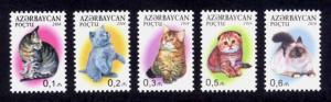 Azerbaijan Sc# 1052-6 MNH Cats