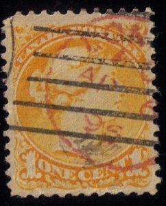 Canada Sc #35 Used Fancy Double Cancel Red & Black 1896 VF