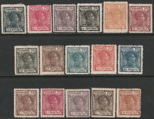 Fernando Po Sc 152-167 complete set mostly MH 1907 issue