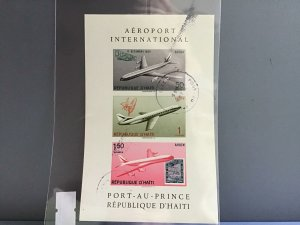 Republic D'Haiti Airport International cancelled stamps sheet  R27054