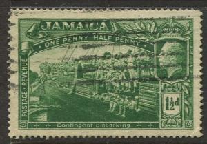Jamaica -Scott 90 - KGV Pictorial Definitive -1921 - Used - Single 1.1/2p Stamp