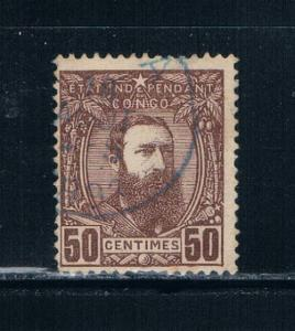Belgian Congo  9 Used King Leopold II (B0028)