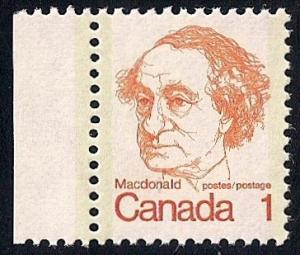 Canada #586 1 cent John A. McDonald mint OG NH XF