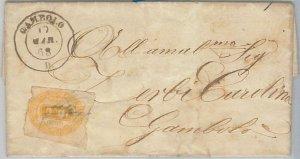 ITALIA REGNO - Storia Postale: Sass  SEGNATASSE 1 su BUSTA da CAMPOLO 1868