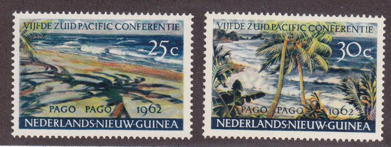 Netherlands New Guinea # 46-47, Mint Never Hinged