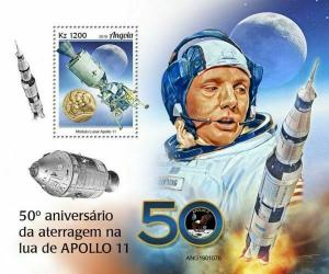 Z08 IMPERF ANG190107b ANGOLA 2019 Apollo 11 MNH ** Postfrisch