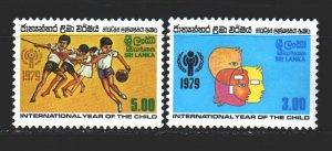 Sri Lanka. 1979. 502-3 from the series. International Year of Children, Sport...