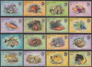 Belize 699-714 MNH CV $18.90