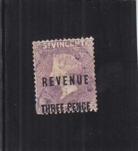 St. Vincent Revenue Tax Stamp, 3p, Sc #16 (24903)