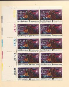 United States, 1559, Contributers of Cause Plate Blk(10),MNH