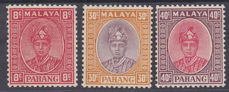 PAHANG 1935 SULTAN 8C 30C AND 40C