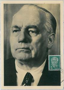 MAXIMUM CARD - POLITICS : GERMANY DDR 1954