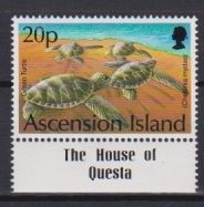 Ascension 1994 Scott 585 Green Turtle MNH