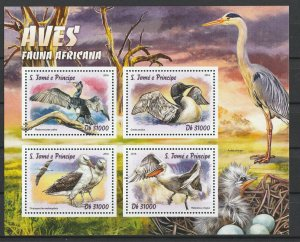 St. Thomas & Prince Islands MNH S/S African Birds 2016