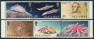 Isle of Man  594-599a strips,MNH.Michel 577-586. EUROPE CEPT-1994.Ocean,E.Forbes