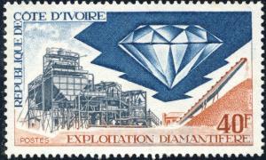 CÔTE-D'IVOIRE/IVORY COAST - 1972 - Mi.416 Exploitation Diamantifère - Neuf *