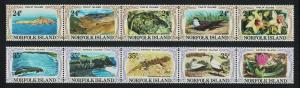 Norfolk Philip and Nepean Islands 10v 2 Strips SG#274-283 SC#288-289