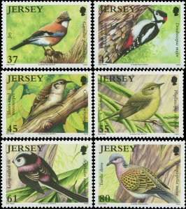[SOLD] Great Britain Jersey 2010 Sc 1429-1434 Birds Jay Woodpecker Treecreeper C