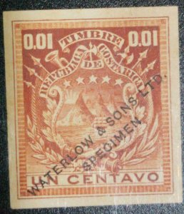 A) 1864, COSTA RICA, NATIONAL EMBLEM, UNAUTHORIZED PROOF ON UNAUTHORIZED HEAVY P