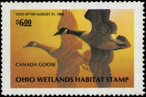 OHIO #08 1989  STATE DUCK STAMP CANADA GEESE by Lynn Kaatz