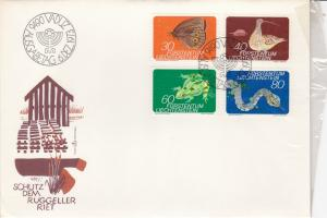 Liechtenstein 1973 Protection Advised Mixed Creatures Stamps FDC Cover Ref 30029