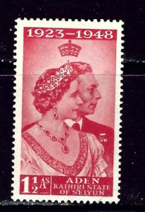 Aden 30 MNH 1948 low value from Silver Wedding set