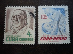 Stamps - Cuba - Scott#557,C134 - Used Set of 2 Stamps