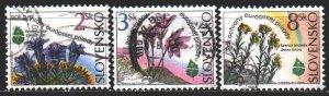 Slovakia. 1995. 217-19. Flowers, flora. USED.