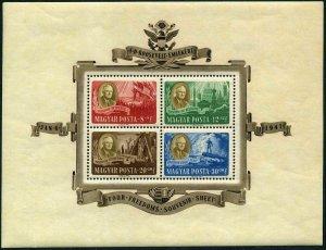 Hungary B198Da,CB1Ca sheets,MNH.Michel Bl.10-11. Franklin D.Roosevelt,1947.