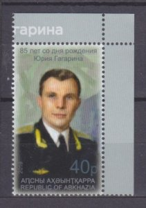 2019 Abkhazia Republic 1002 85 years anniversary of Yuri Gagarin 3,50 €