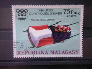 MALAGASY, 1975, used 75f, Scott 538, Winter Olympic games, Innsbruck