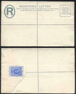 Southern Nigeria KEVII 2d Blue Registered Letter Mint