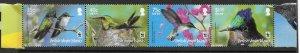 BRITISH VIRGIN ISLANDS SG1278b/81b 2014  HUMMINGBIRDS  STRIP OF 4 MNH
