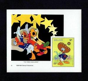 BELIZE - 1985 - DISNEY - DONALD DUCK - THREE CABALLEROS - MINT - MNH S/SHEET!