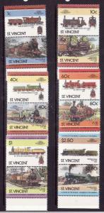 St. Vincent-Sc#833-8-Unused NH set-Trains-Locomotives-1985-