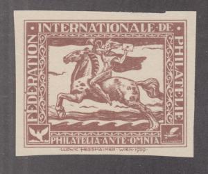 Austria MNH. 1929 Hesshaimer Essay in light brown, imperforate